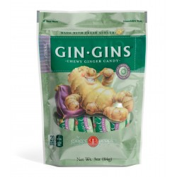 GIN GINS ORIGINAL CHEWY GINGER CANDY 84GRS