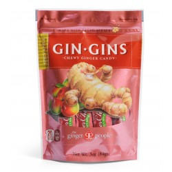 GIN GINS SPICY APPLE CHEWY GINGER CANDY 84GRS