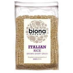 SHORT GRAIN ITALIAN BROWN RICE ORGANIC 500GRS