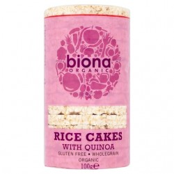 RICE CAKES WITH QUINOA WHOLE GRAIN ORGANIC 100GRS