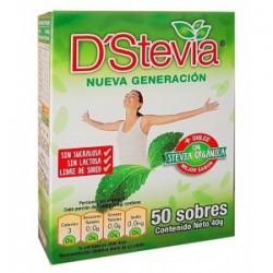 ENDULZANTE DSTEVIA CAJA 50 SOBRES 40GR