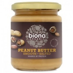 PEANUT BUTTER SMOOTH WITH SALT ORGANIC 250GRS
