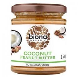 Coconut peanut butter organic 170 gramos Marca Biona