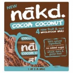 Cocoa coconut 35 gramos multipack 4 barras Marca Nakd