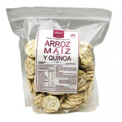 GALLETAS DULCES DE ARROZ, MAIZ Y QUINOA SIN AZUCAR 250 GR