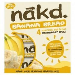 Oferta Banana bread multipack 4 barras 35 gramos Marca Nakd