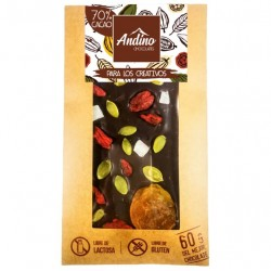 BARRAS DE CHOCOLATE ANDINO 70% PARA LOS CREATIVOS - 60 GR