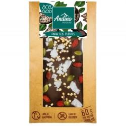 BARRAS DE CHOCOLATE ANDINO 80% PARA LOS FUERTES - 60 GR