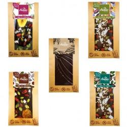 MIX BARRAS DE CHOCOLATE ANDINO 5 VARIEDADES 10 UNIDADES x 60 GR