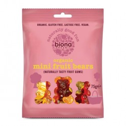 ORGANIC MINI FRUIT BEARS 10 X 75 GR