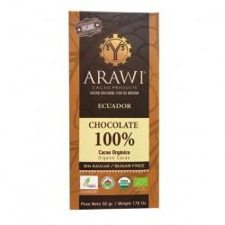 BARRA CHOCOLATE ORGANICO ARAWI 100% 50 GR