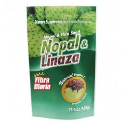 NOPAL Y LINAZA EN POLVO 20 X 500 GR