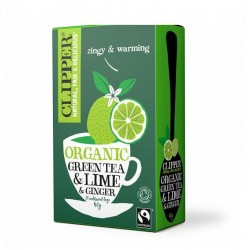 Green tea lime ginger 20 bags Marca Clipper