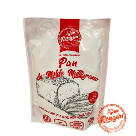 Premezcla pan molde multigrano 400 gramos Marca Rengun