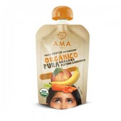 Manzana platano zanahoria organico 90 gramos Marca Ama