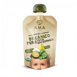 Pera kiwi espinacas organico 90 gramos Marca Ama