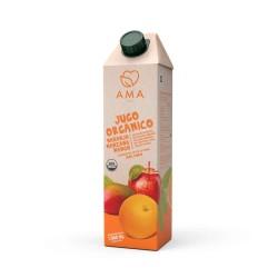 Jugo naranja manzana y mango organico 1 litro Marca Ama