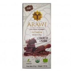 Barra choconibs 60% cacao organico 50 gramos Marca Arawi