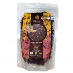 Cobertura de choco jengibre organica al 100% gotas 227 gramos Marca Arawi