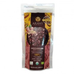 Cobertura de choco jengibre organica al 100% gotas 140 gramos Marca Arawi