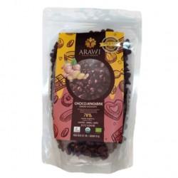 Cobertura de choco jengibre organica al 70% gotas 227 gramos Marca Arawi