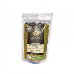 Cobertura de chocolate organica al 100% gotas 140 gramos Marca Arawi