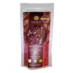 Cobertura de chocolate organica al 70% gotas 140 gramos Marca Arawi