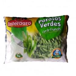 Porotos verdes IQF 1 kilo Marca Mercafood