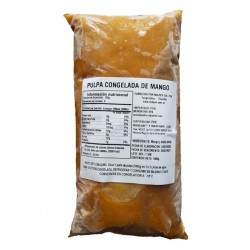 Pulpa de mango 100% natural sin azucar congelada 1 kilo Marca Mercafood