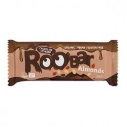Chocolate covered almond bar 16 x 30 gramos Marca Roobar