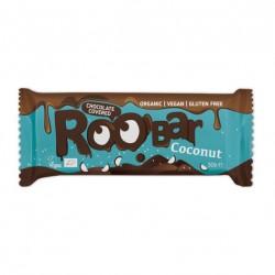 Chocolate covered coconut bar 16 x 30 gramos Marca Roobar