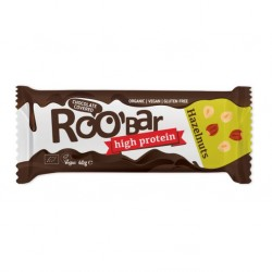Hazelnut & protein bar covered with chocolate 16 x 40 gramos Marca Roobar