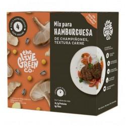 Green burger mix champiñones textura carne 200 gramos Marca The Live Green Co