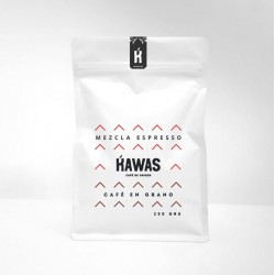 Cafe mezcla espresso grano 250 gramos Marca Kawas