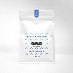Cafe descafeinado molido 250 gramos Marca Kawas