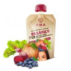Manzana betarraga arandano organico 90 gramos Marca Ama