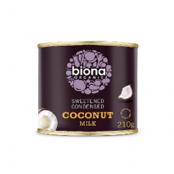 Sweetened condesed coconut milk organic 210 gramos Marca Biona