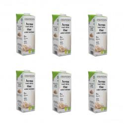 Bebida organica avena 6 x 1 litro Marca Amandin