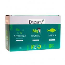 Pack electropower + omega 3 + magnesio keto Marca Drasanvi