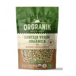 Lenteja verde oraganica 400 gramos Marca Orgranik