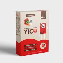 Yico frutilla caja 5 unidades 125 gramos Marca Bigu snacks