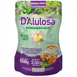 Endulzante alulosa doy pack granulado 150 gramos Marca D Alulosa