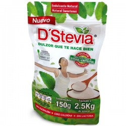 Endulzante dstevia + eritritol doy pack granulado 150 gramos Marca D Stevia