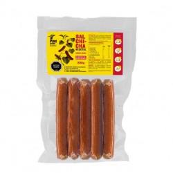 Salchicha asada 280 gramos Marca Pow Foods