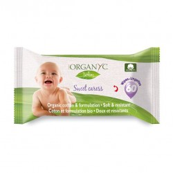 Toallas humectantes bebes de 60 unidades Marca Organyc