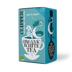 White tea 20 bags Marca Clipper