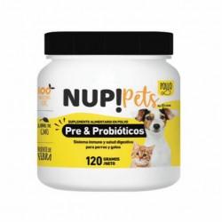 Nup! petspre&probioticos para perros y gatos sabor pollo