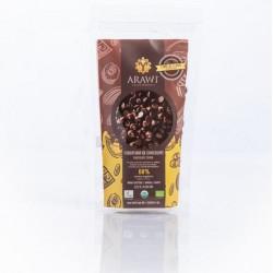 Cobertura chocolate organica 60% gotas 227 gramos Marca Arawi