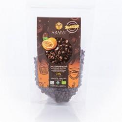 Cobertura choco maracuya organica 70% gota 227 gramos Marca Arawi