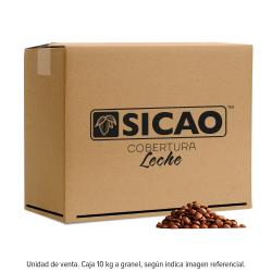 Caja de 10 kilogramos de cobertura Sicao leche